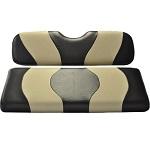 Madjax Wave Black/Tan Two-Tone Seat Covers | For Genesis 150 Rear Seats