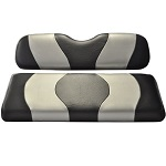 Madjax Wave Black/Silver Two-Tone Seat Covers | For Genesis 150 Rear Seats