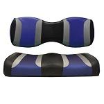 For Genesis 250 300 Rear Seat | Madjax Tsunami Seat Cushions Black Silver Blue