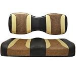 For Genesis 250 300 Rear Seat | Madjax Tsunami Seat Cushions Black Autumn Brown