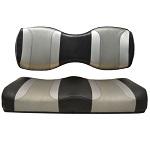 For Genesis 250 300 Rear Seat   Madjax Tsunami Seat Cushions Black Silver Silver