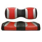For Genesis 250 300 Rear Seat | Madjax Tsunami Seat Cushions Shockjet Silver Red