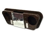 Madjax Golf Cart Overhead Radio Stereo Console w/ LED Lights | Wood Grain