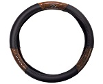 MadJax Golf Cart Steering Wheel Cover | Black / Woodgrain