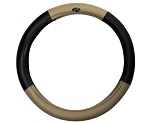MadJax Golf Cart Steering Wheel Cover | Black / Tan