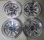 "Golf Cart 8"" MadJax SS Chrome Wheel Cover Hub Cap 