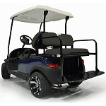 GTW MACH-1 Steel Rear Flip Seat | Yamaha Drive2 2017-Up Golf Cart | Black