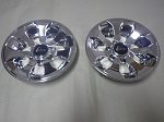 "Golf Cart EZGO Yamaha Club Car 8"" Drifter Chrome Wheel Cover Hub Cap Set of 2"