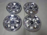 "Golf Cart EZGO Yamaha Club Car 8"" Drifter Chrome Wheel Cover Hub Cap Set of 4"
