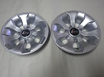 "Golf Cart EZGO Yamaha Club Car 8"" Drifter Silver Wheel Cover Hub Cap Set of 2"