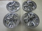 "Golf Cart EZGO Yamaha Club Car 8"" Rally Chrome Wheel Cover Hub Cap 