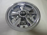 "Golf Cart EZGO Yamaha Club Car 8"" Rally Chrome Wheel Cover Hub Cap"