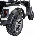 EZGO RXV Golf Cart 2008-Up Fender Flare Set of 4 Front / Rear | Black