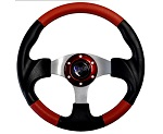 "Madjax 13"" Red / Black Razor Steering Wheel Golf Carts Yamaha EZGO Club Car"