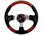 """Madjax 13"""" Red / Black Razor Steering Wheel Golf Carts Yamaha EZGO Club Car"""