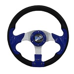 "Madjax 13"" Blue Razor Steering Wheel Golf Carts Yamaha EZGO Club Car"