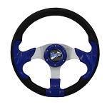 """Madjax 13"""" Blue Razor Steering Wheel Golf Carts Yamaha EZGO Club Car"""