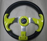 Madjax 13? Yellow / Black Razor 2 Steering Wheel Golf Carts Yamaha EZGO Club Car