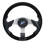 "Madjax 13"" Carbon Razor Steering Wheel Golf Carts Yamaha EZGO Club Car"