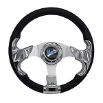 "Madjax 13"" Chrome Razor Steering Wheel Golf Carts Yamaha EZGO Club Car"
