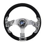 """Madjax 13"""" Chrome Razor Steering Wheel Golf Carts Yamaha EZGO Club Car"""
