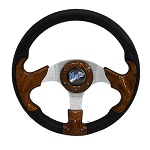 Madjax 13? Woodgrain Razor Steering Wheel Golf Carts Yamaha EZGO Club Car