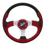 "Madjax 13"" Red Ultra Steering Wheel Golf Carts Yamaha EZGO Club Car"