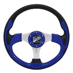 "Madjax 13"" Blue Ultra Steering Wheel Golf Carts Yamaha EZGO Club Car"
