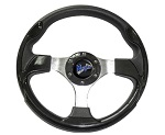 "Madjax 13"" Black Ultra Steering Wheel Golf Carts Yamaha EZGO Club Car"
