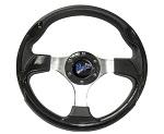 """Madjax 13"""" Black Ultra Steering Wheel Golf Carts Yamaha EZGO Club Car"""