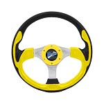 "Madjax 13"" Yellow Ultra Steering Wheel Golf Carts Yamaha EZGO Club Car"