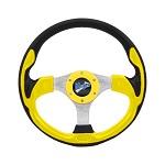 """Madjax 13"""" Yellow Ultra Steering Wheel Golf Carts Yamaha EZGO Club Car"""