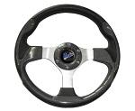 """Madjax 13"""" Carbon Fiber Ultra Steering Wheel Golf Carts Yamaha EZGO Club Car"""