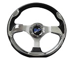 "Madjax 13"" Chrome Ultra Steering Wheel Golf Carts Yamaha EZGO Club Car"