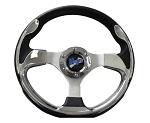 """Madjax 13"""" Chrome Ultra Steering Wheel Golf Carts Yamaha EZGO Club Car"""