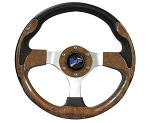 "Madjax 13"" Woodgrain Ultra Steering Wheel Golf Carts Yamaha EZGO Club Car"