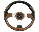 """Madjax 13"""" Woodgrain Ultra Steering Wheel Golf Carts Yamaha EZGO Club Car"""