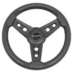 "Gussi Italia Lugana Black 14"" Steering Wheel | Club Car DS Golf Cart"