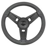 "Gussi Italia Giazza Black 14"" Steering Wheel | Club Car DS Golf Cart"