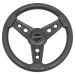 "Gussi Italia Lugana Black 14"" Steering Wheel | Club Car Precedent Golf Cart"
