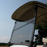 Yamaha Drive2 2017+ Golf Cart Folding Front Windshield | Tinted