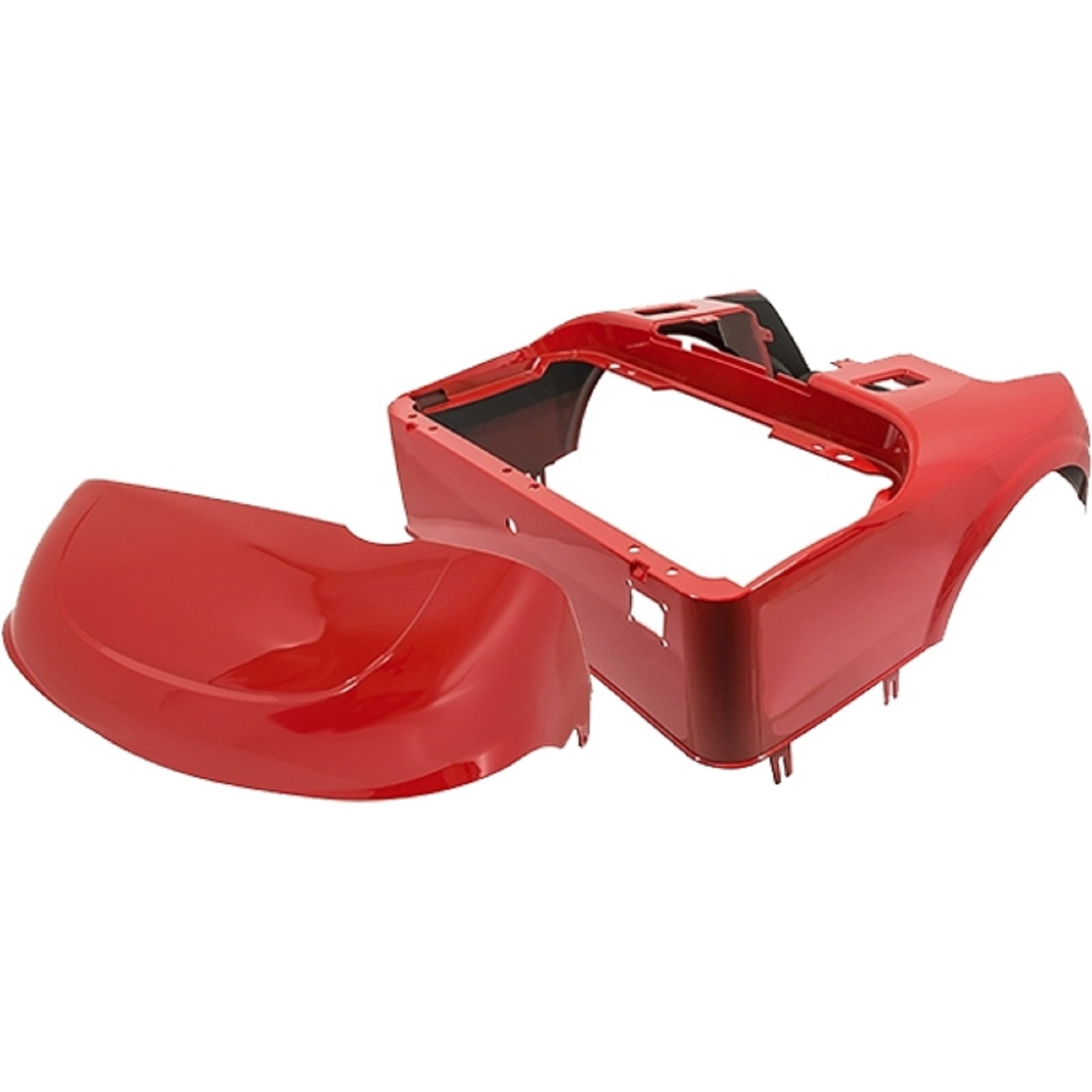 EZGO RXV Golf Cart 2016-Up Front Cowl Rear Body Kit | Metallic Flame Red
