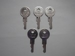 EZGO Golf Cart 1982-2009 Gas or Electric Ignition Key Replacement | 5 Keys