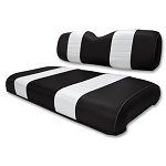 Club Car DS Golf Cart 2000.5-Up | Custom Front Seat Covers | Black/White