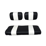 Club Car DS Golf Cart 1979-1999 | Custom Front Seat Covers | Black/White