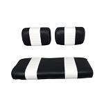 Club Car DS Golf Cart 1979-1999 | Custom Front Seat Cushions | Black/White