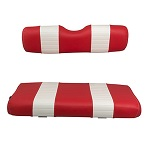 EZGO TXT Golf Cart 1994.5-2013 | Custom Front Seat Covers | Red/White