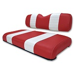 Club Car DS Golf Cart 2000.5-Up | Custom Front Seat Covers | Red/White