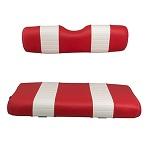 EZGO TXT Golf Cart 1994.5-2013 | Custom Front Seat Cushions | Red/White