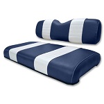 Club Car DS Golf Cart 1979-1999 | Custom Front Seat Covers | Navy/White